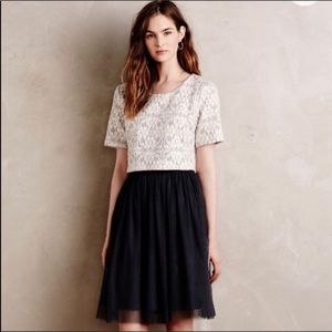 Anthropologie Weston Lace Tulle Cocktail Dress